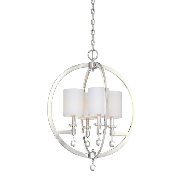 Chadbourne 4 - Light Shaded Globe Chandelier by Metropolitan by Minka Metropolitan by Minka