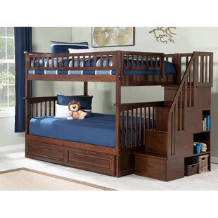 Selig Full Over Full Bunk Bed with Drawers by Viv   Rae