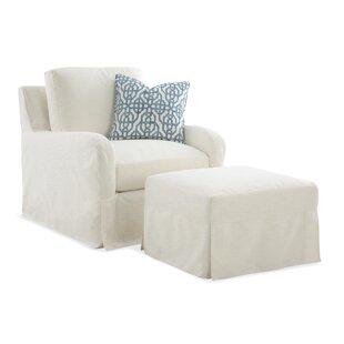 Halsey Box Cushion Ottoman Slipcover