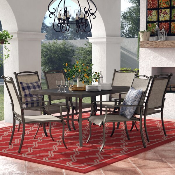 Pavilion 7 Piece Dining Set by Three Posts