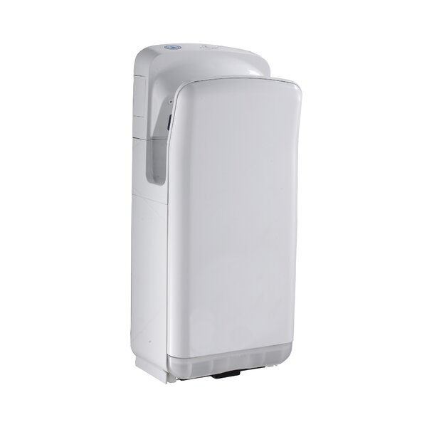Hands-Free Wall Mount 110 Volt Hand Dryer in White by Whitehaus Collection