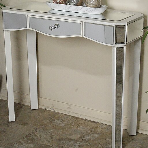Aleta Mirrored Console Table By House Of Hampton