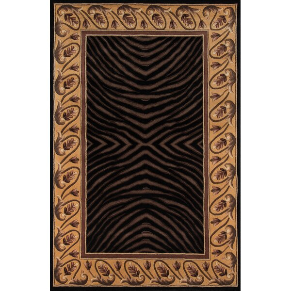 Ryanne Hand-Tufted Black/Brown Area Rug by Bloomsbury Market