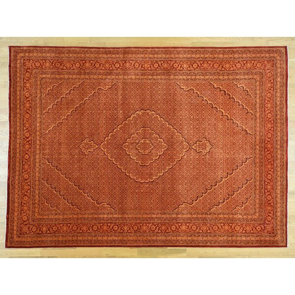 One-of-a-Kind Beaton Handwoven Red Wool/Silk Area Rug by Isabelline