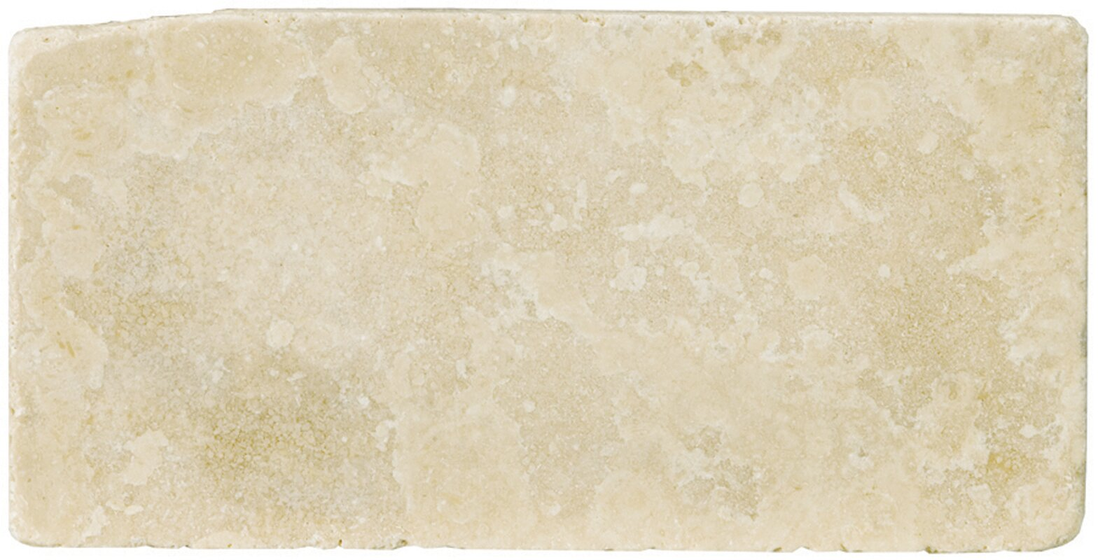 Travertine 8 X 16 Field Tile In Ancient Tumbled Beige