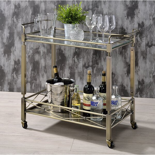 Moore's Crossing Historic Bar Cart by Brayden Studio