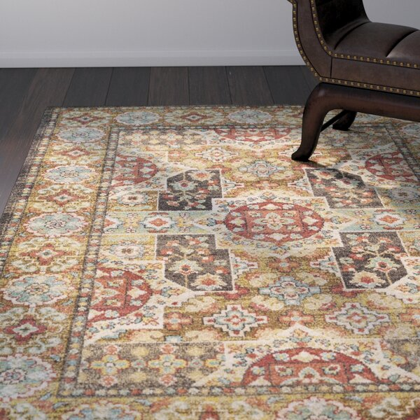 Naranjo Market Tan Area Rug by World Menagerie