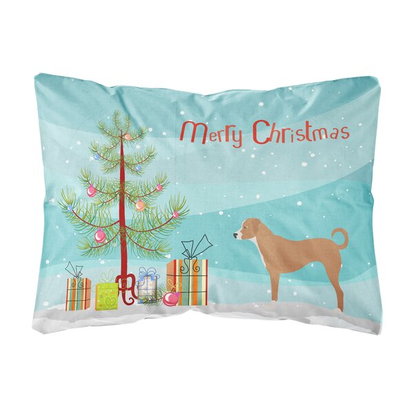 Lyell Australian Pinscher Christmas Indoor/Outdoor Throw Pillow by The Holiday Aisle
