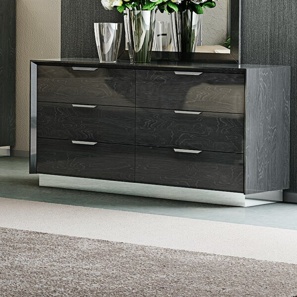 Arushi 6 Drawer Double Dresser by Orren Ellis
