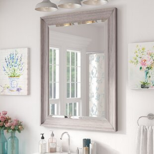 Find the perfect Bartouille Transitional Driftwood Beveled Bathroom/Vanity Wall Mirror ByLark Manor