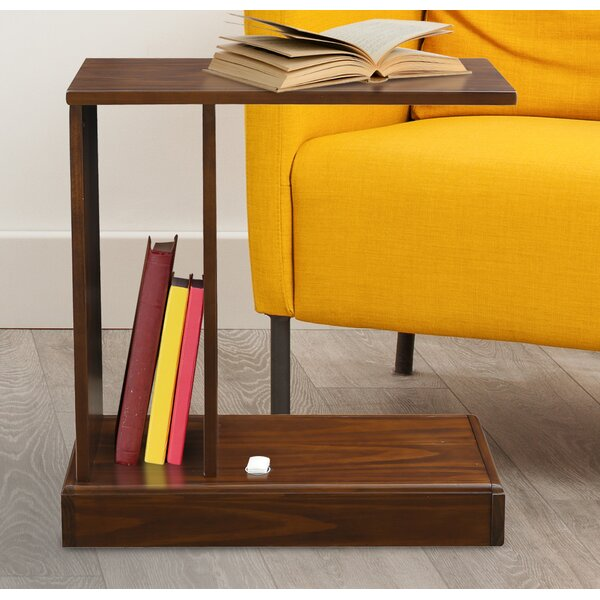 Augie Solid Wood C-Table With Storage By Andover Mills