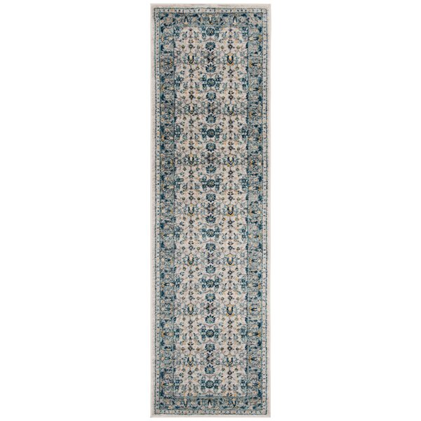 Grieve Ivory/Navy Area Rug by Bungalow Rose