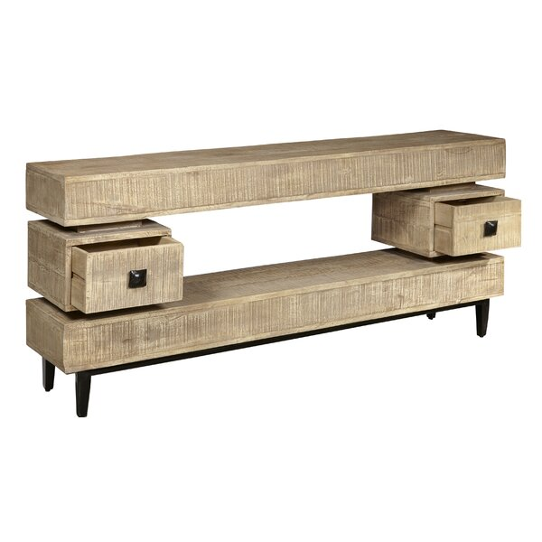Discount Alexzander 2 Drawer Distressed Console Table