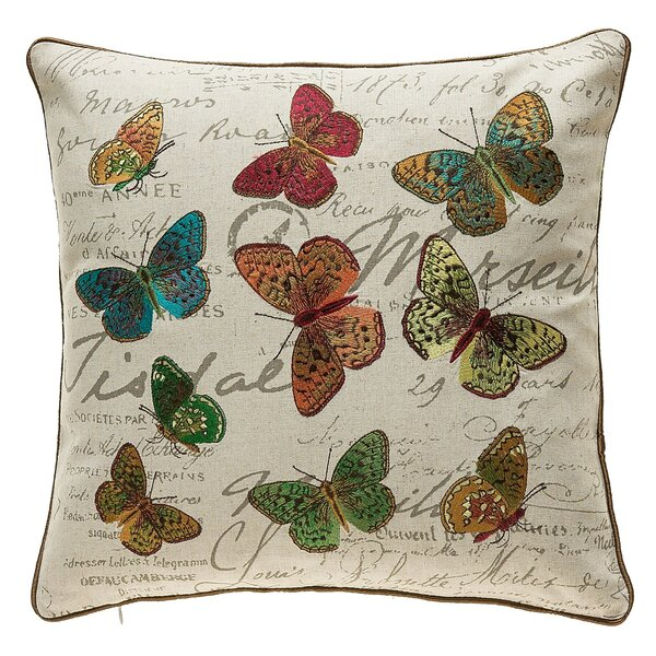 Kircher Colorful Butterflies Throw Pillow by Ophelia & Co.