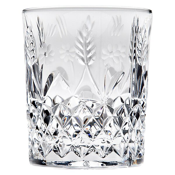 Stephanie Crystal Double Old Fashioned Glass (Set of 4) by Godinger Silver Art Co