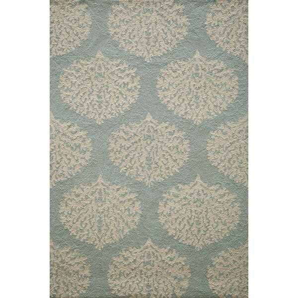 Cline Blue Hooked Indoor/Outdoor Area Rug by Highland Dunes