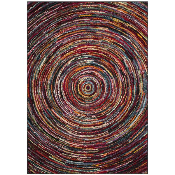 Miley Red/Green/Yellow Area Rug by Latitude Run