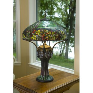 Stained glass table lamps wayfair creasman tiffany style stained glass 34 table lamp aloadofball Image collections