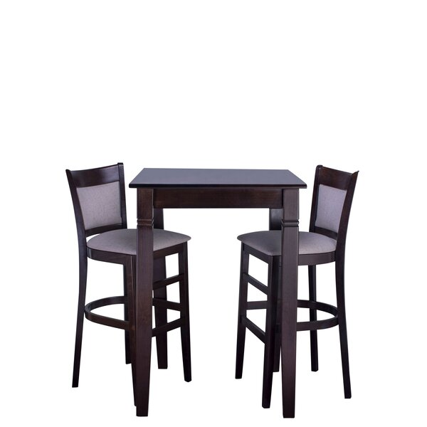 Iron Acton 3 Piece Pub Table Set by Winston Porter
