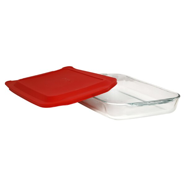 4 Qt. Oblong Baking Dish with Cover by Pyrex