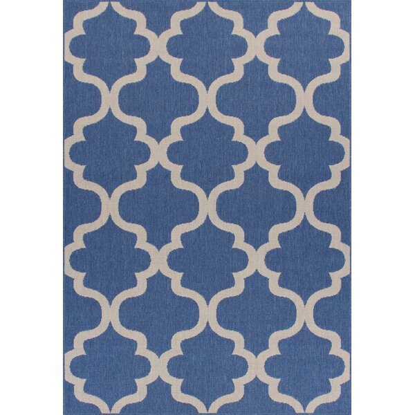 Ricky Weather-Proof Blue Indoor/Outdoor Area Rug by Charlton Home