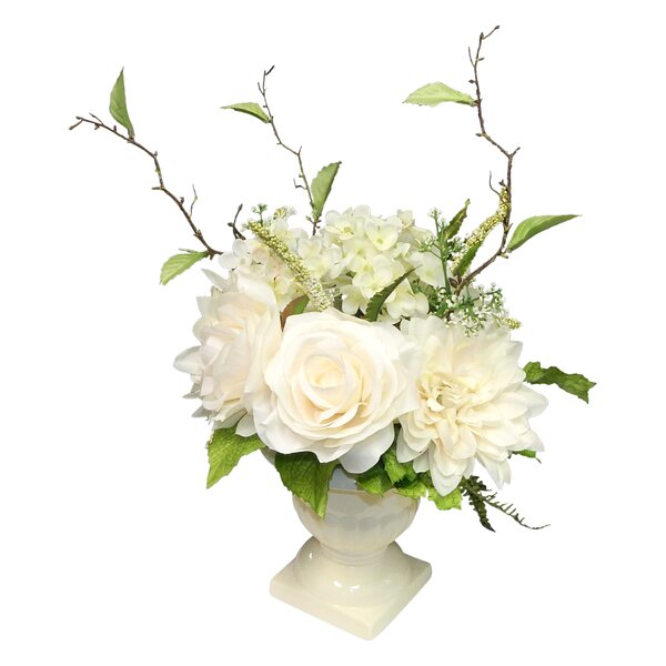 Mixed Centerpiece in Urn by House of Hampton