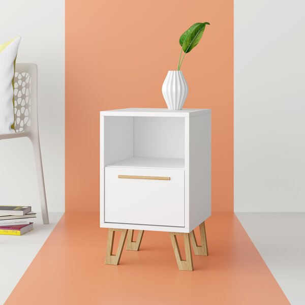 Amabilia 1 Drawer Nightstand by Hashtag Home