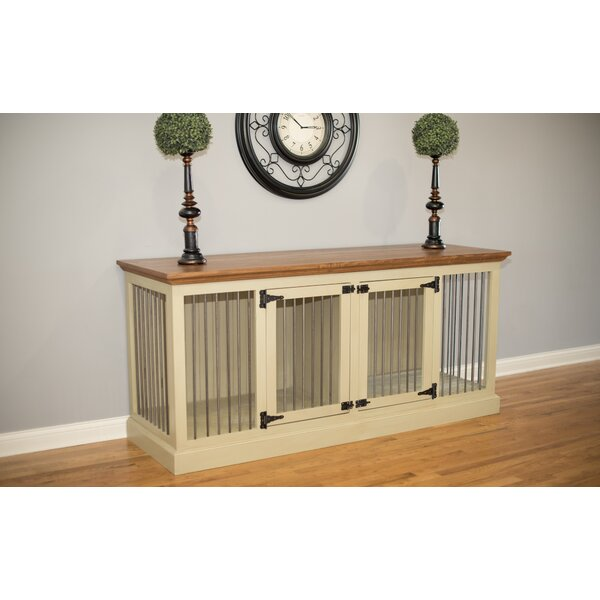 Brooke Double Wide Medium Credenza Pet Crate by Archie & Oscar