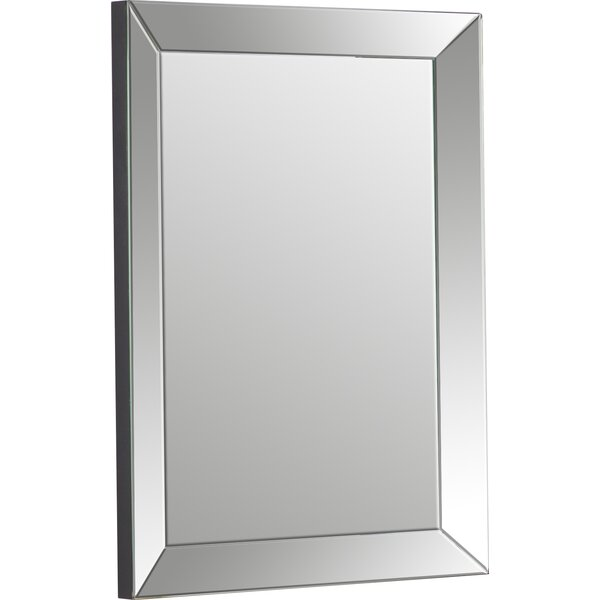 Rectangle Silver Vanity Wall Mirror by Wade Logan