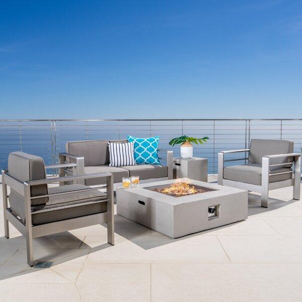 Royalston 5 Piece Sofa Set with Cushions by Brayden Studio