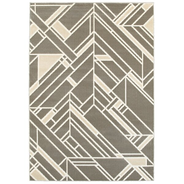 Eady Gray Area Rug by Wrought Studio