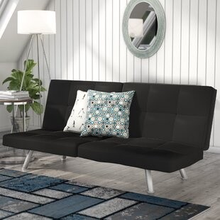 Dudley Chrome Convertible Sofa by Zipcode Design