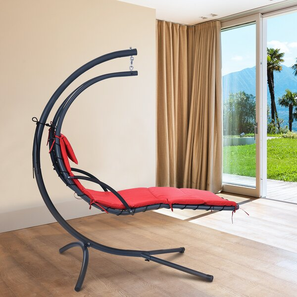 Genesis Hanging Chaise Lounge with Stand by Ebern Designs