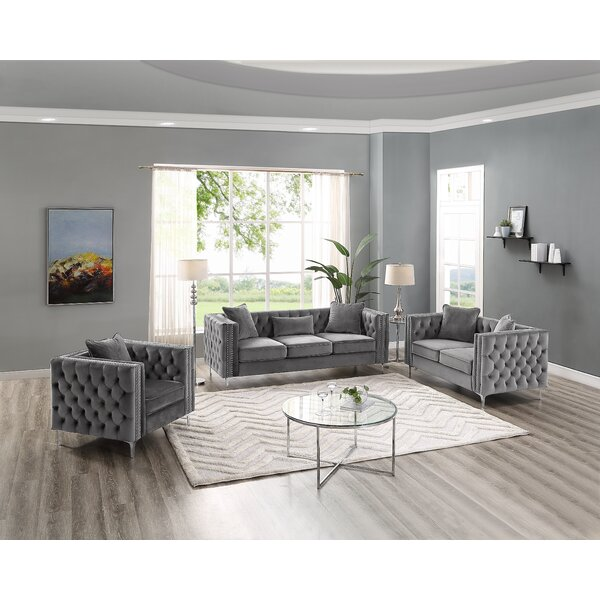 Peasely 3 Piece Standard Living Room Set by Mercer41
