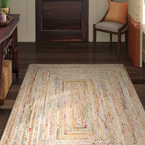 Bowen Hand-Woven Beige/Yellow Area Rug by World Menagerie