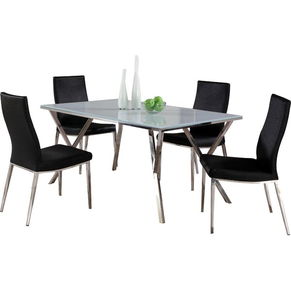 Decimus 5 Piece Rectangular Dining Set by Orren Ellis