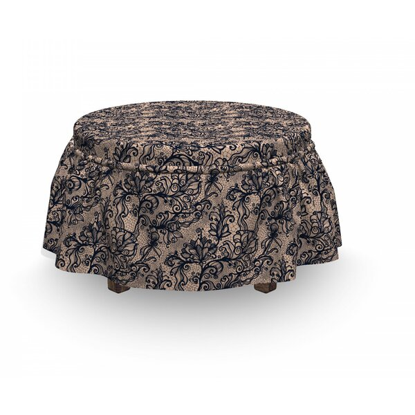 Gothic Nature InspiFeminine 2 Piece Box Cushion Ottoman Slipcover Set By East Urban Home