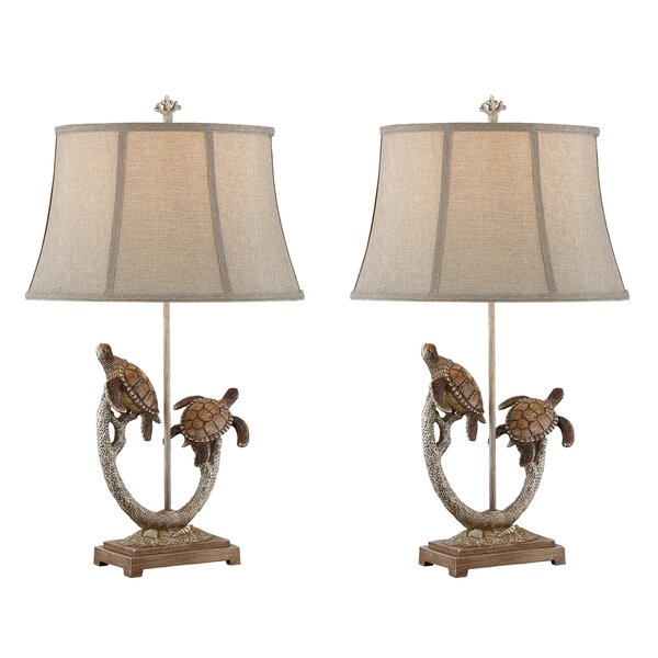Uma Turtle 31 Table Lamp (Set of 2) by Highland Dunes
