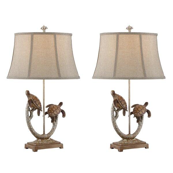 Uma Turtle 31 Table Lamp (Set of 2) by Highland Dunes
