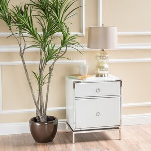 Collier 2-Drawer Side Table by Willa Arlo Interiors