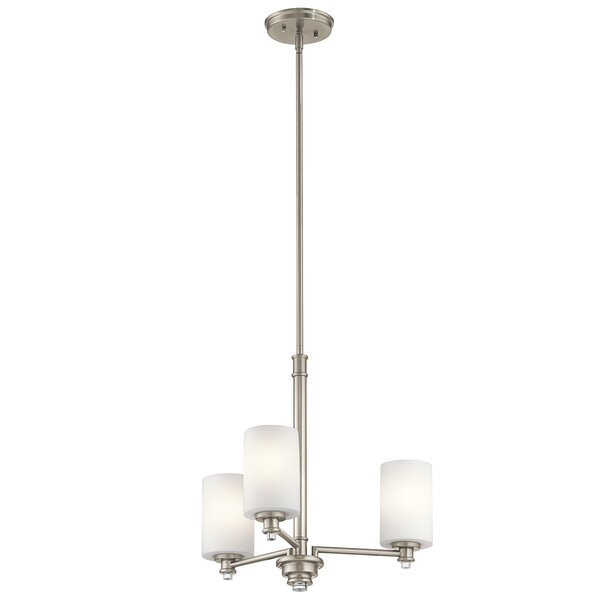 Bourdeau 3 - Light Shaded Classic / Traditional Chandelier By Darby Home Co