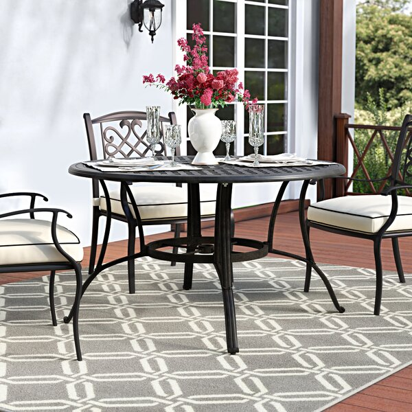 Maytown Metal Dining Table By Darby Home Co by Darby Home Co Herry Up