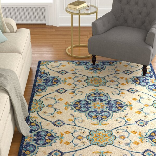 Duron Hand-Tufted Wool Ivory Area Rug by Darby Home Co