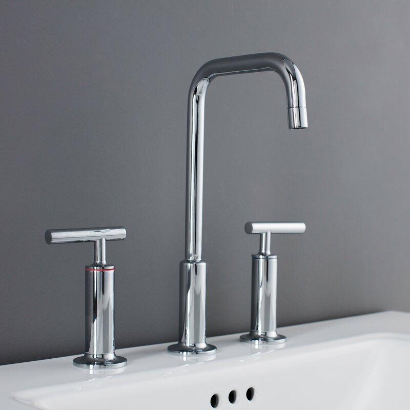 Maykke Prelude 3 Piece Widespread Wrist Blade Handle Bathroom Faucet ...