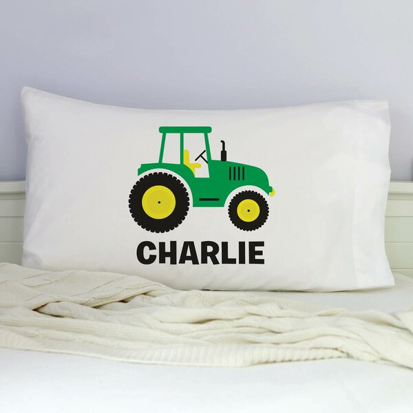 Kissel Personalized Tractor Pillowcase by Zoomie Kids