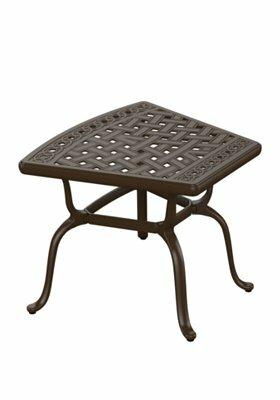 Garden Terrace Cast Aluminum Side Table by Tropitone