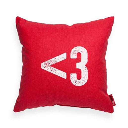 Symbol 3 Heart Decorative Throw Pillow by Posh365