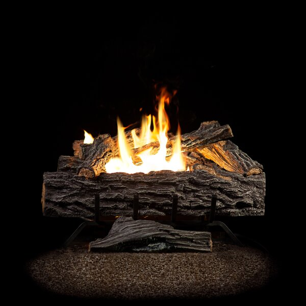 Four Seasons Golden Eclipse Manual Burner and Log Set Natural Gas by SureHeat