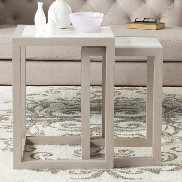 Egan 2 Piece Nesting Table Set by Safavieh