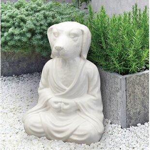 Zen Cat Garden Statue